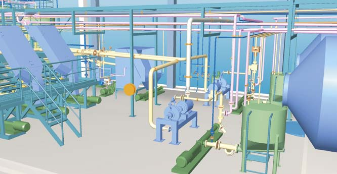 3D-model of starch process