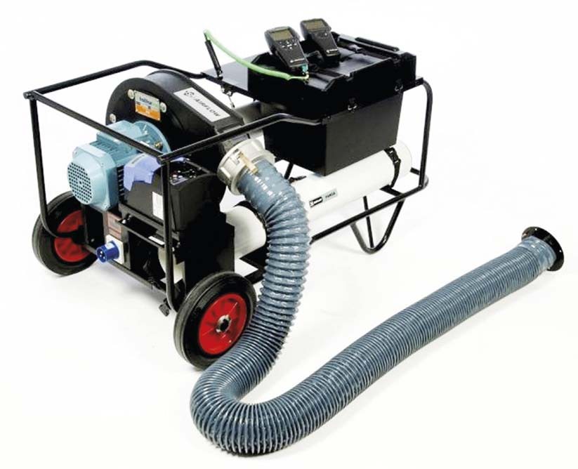 The two most common methods of identifying air leaks are smoke testing and soap bubble testing