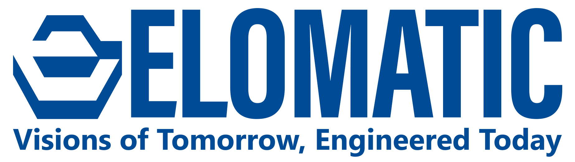 Elomatic logo and slogan - Visions onf tomorrow, Engineered Today.